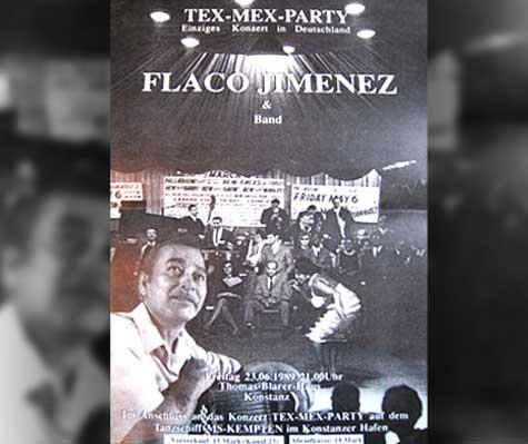 Flaco Jimenez. Einziges Konzert in Deutschland 1989